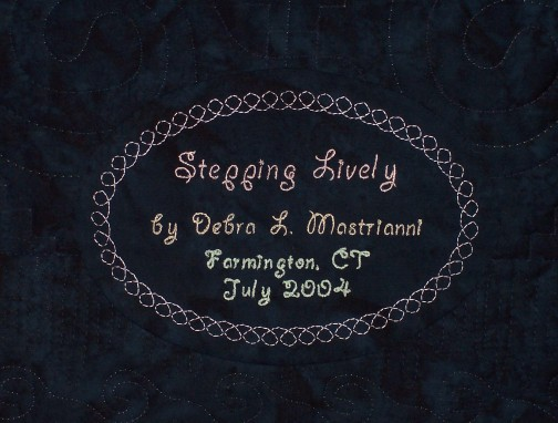SteppingLively_label
